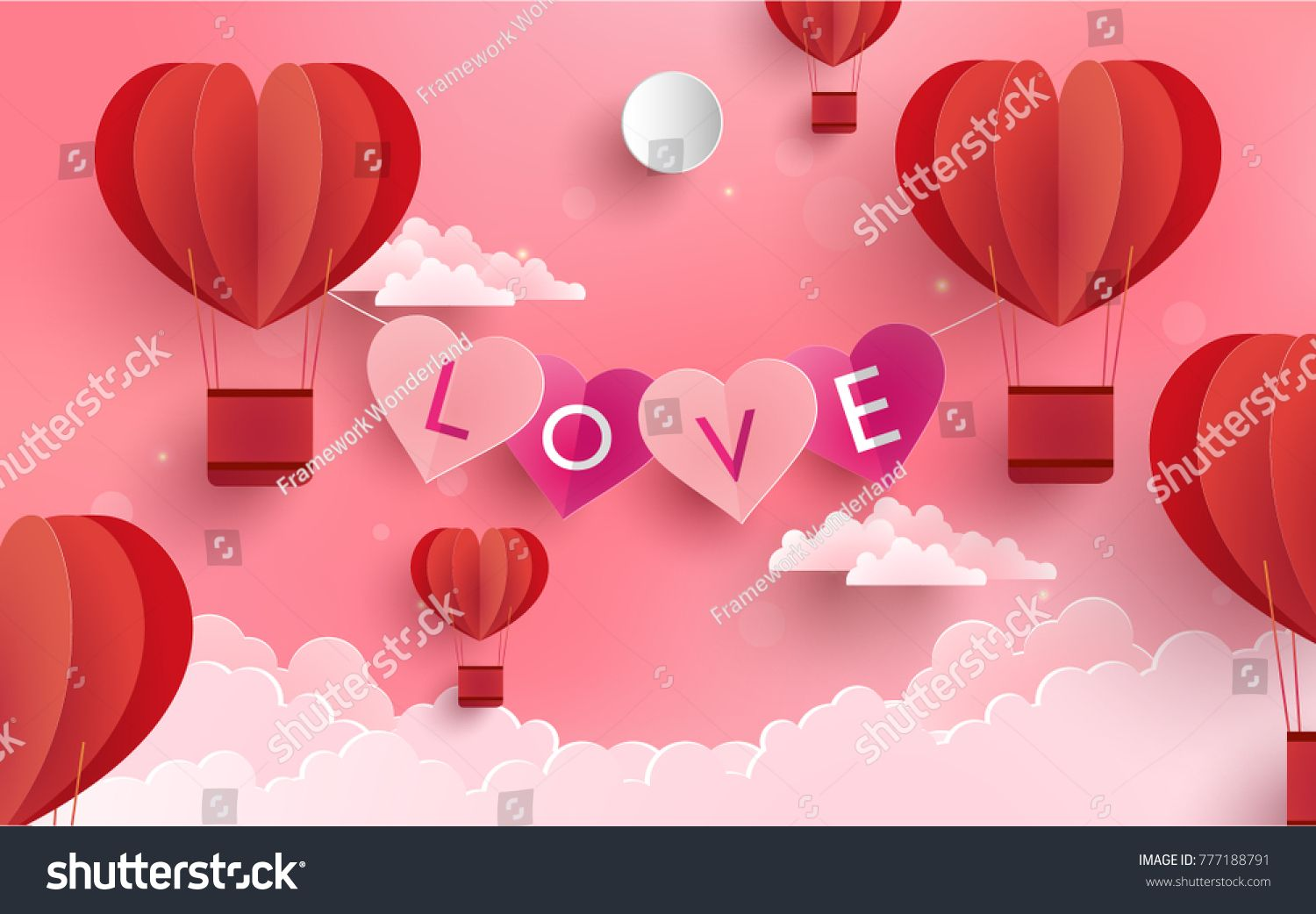 Illustration symbol of love with the design of paper art and craft illustration symbol of love with the design of paper art and craft a pink background biocorpaavc Images