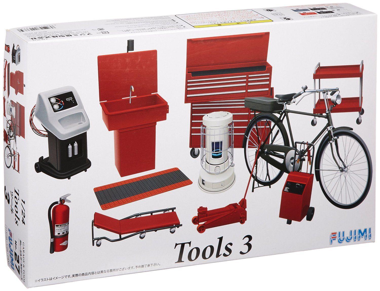 Amazon Com 1 24 Tool Set 3 Model Car Fujimi No 27 Garage