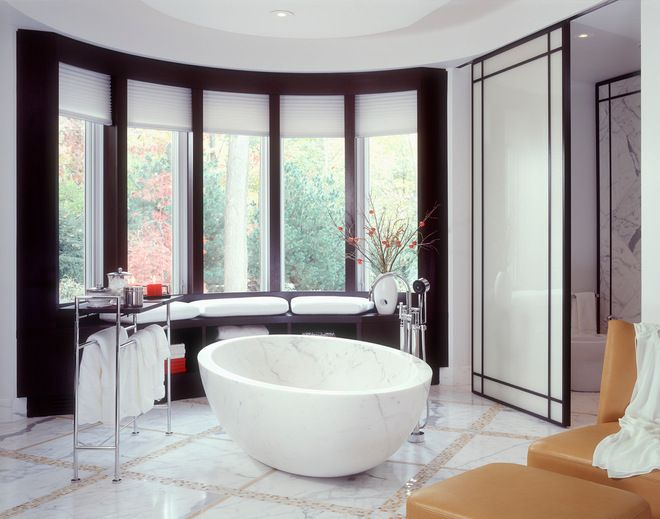 Major Renovation- Cleveland - contemporary - bathroom - cleveland - alene  workman interior design, inc