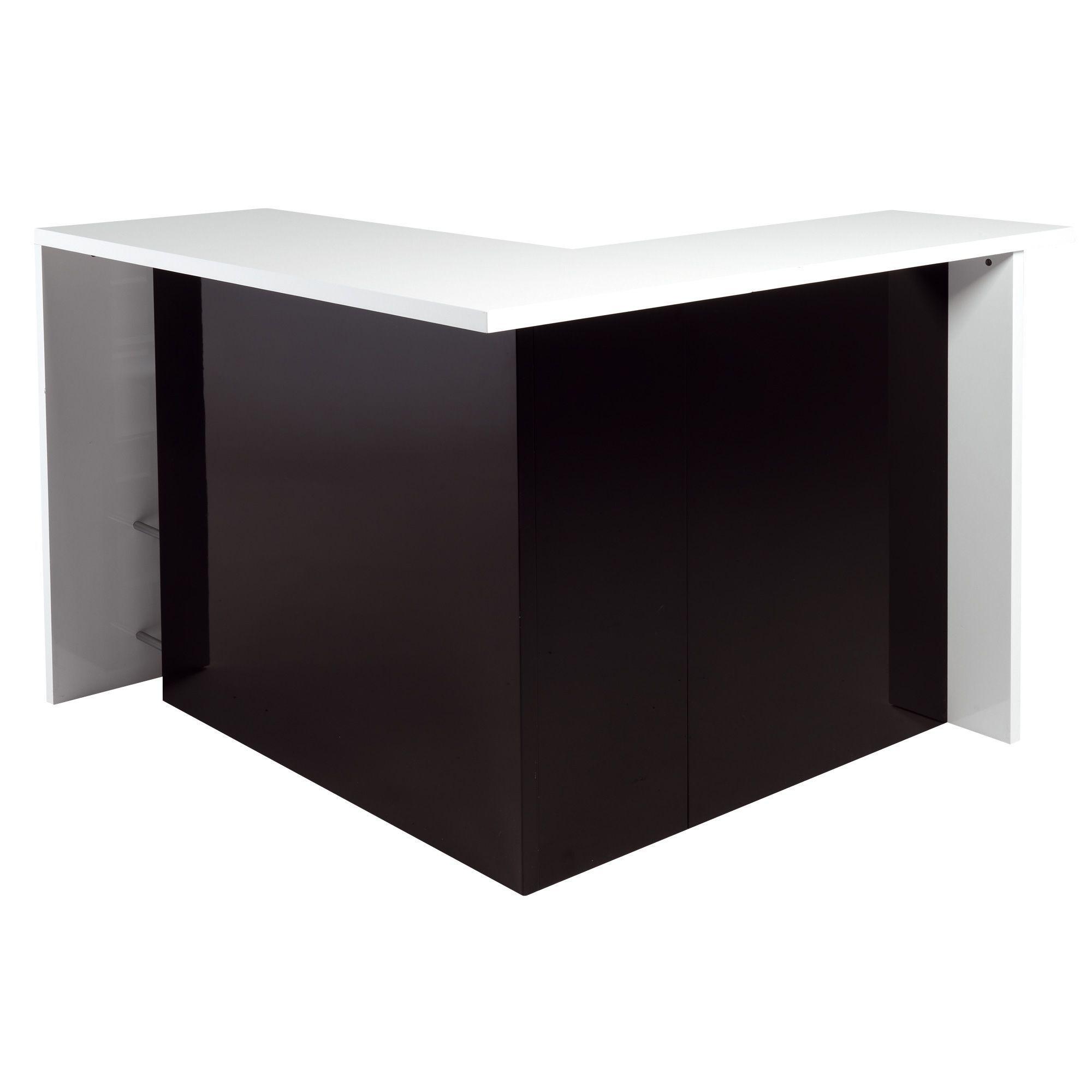 Table Haute Cuisine Alinea bar en angle moderne noir et blanc noir et blanc - basil