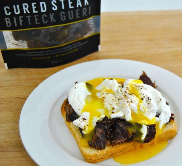 #poachersbreakfast #poachedeggs #curedsteak #breakfast #recipes