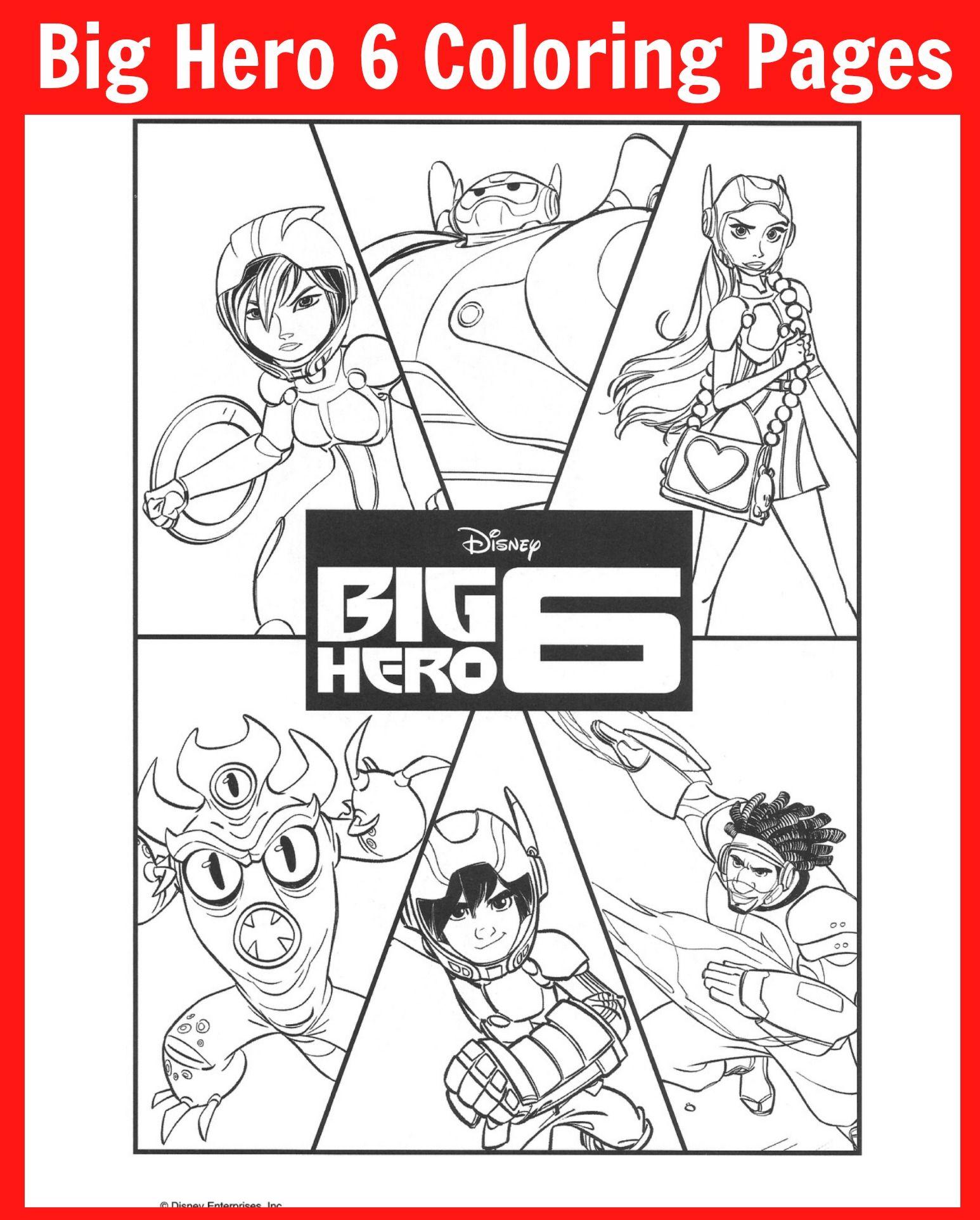 Colouring in sheets big hero 6 - Big Hero 6 Coloring Pages And Activity Sheets Bighero6