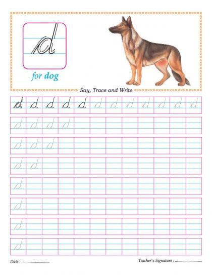 cursive small letter d practice worksheet first day cursive small letters cursive. Black Bedroom Furniture Sets. Home Design Ideas
