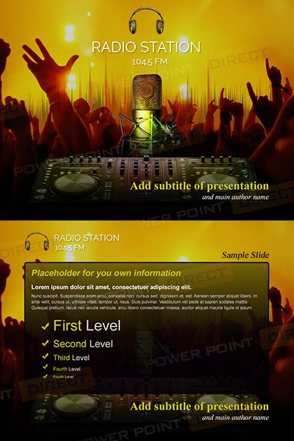Radio Station Free Powerpoint Template | Free Powerpoint