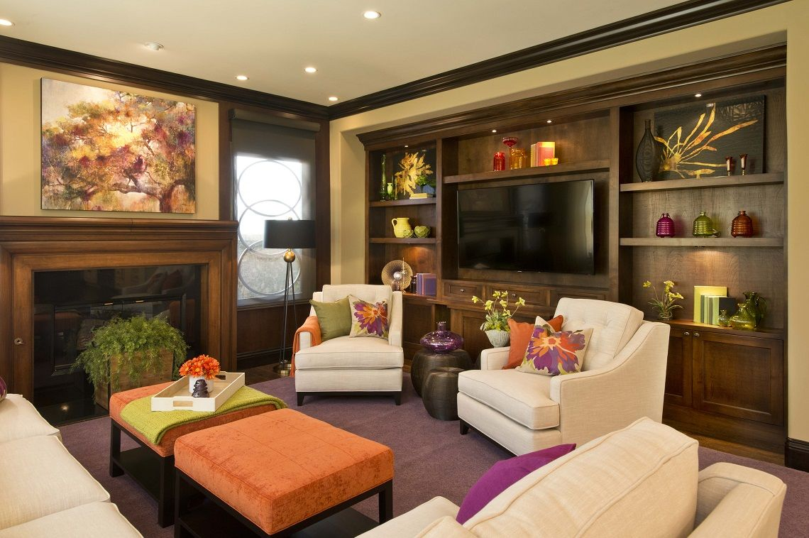 Family Rooms Vibranttransitionalfamilyhomefamilyroomrobesondesign