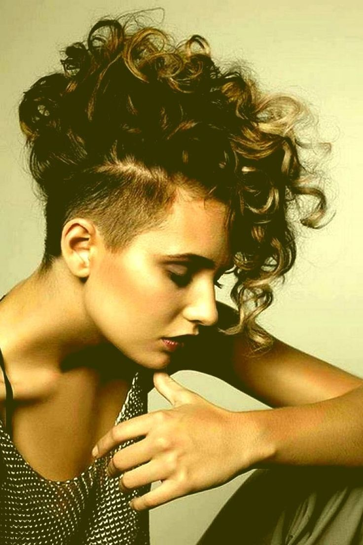 Great hairstyles for short curly hair with bangs Curly