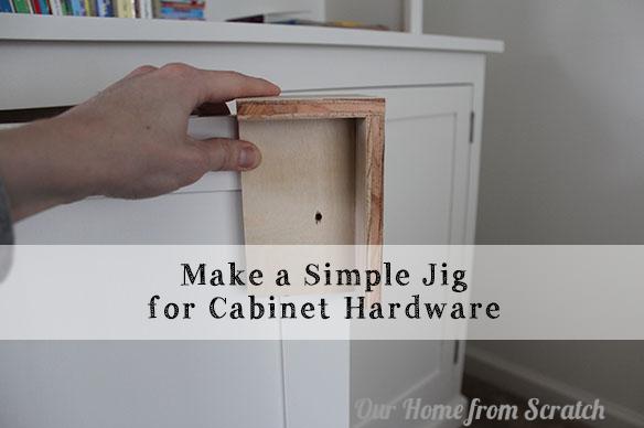 Simple Homemade Jig For Cabinet Door Pulls Kitchen Cabinet Door