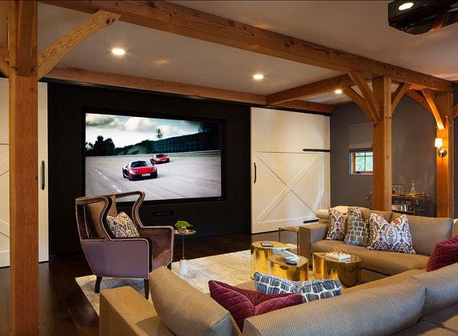 Media Room Basement Remodel 0: Basement Design Idea. Cool Basement With Media Room And