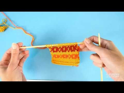 Easy way to knit Fair Isle and other stranded colorwork in the ...