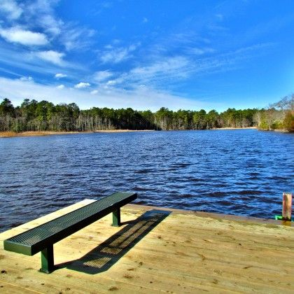 Fishing Dock With Blue Skies