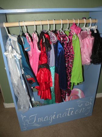 BEAUTIFUL Dress Up 'closet' bin!