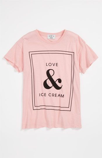 5420ada1fdab18 Love   Ice Cream Printed Short Sleeve Pink T-shirt