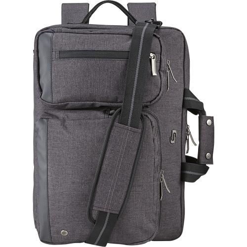 Solo - Urban Convertible Laptop Briefcase Backpack - Gray - AlternateView1 Zoom