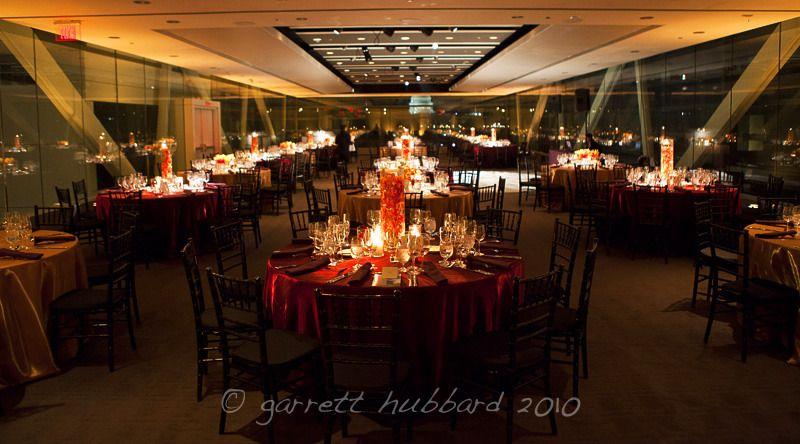 Jewel Tones Modern Fall Wedding At Newseum Event Accomplished Llc Country Style Wedding Candle Centerpieces Washington Dc Wedding