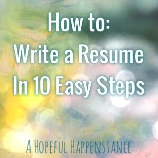 how to write a killer resume in 10 easy steps