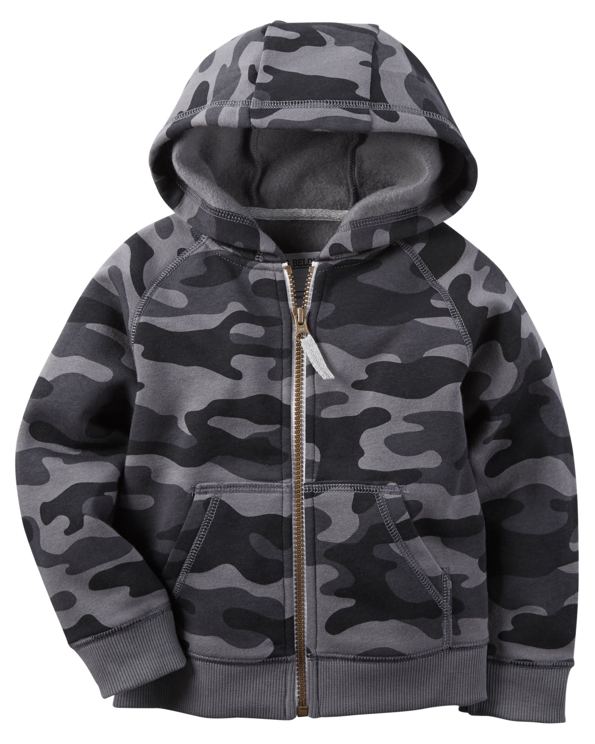 e4733dade8af Baby Boy Camo Fleece Zip-Up Hoodie from Carters.com. Shop clothing ...