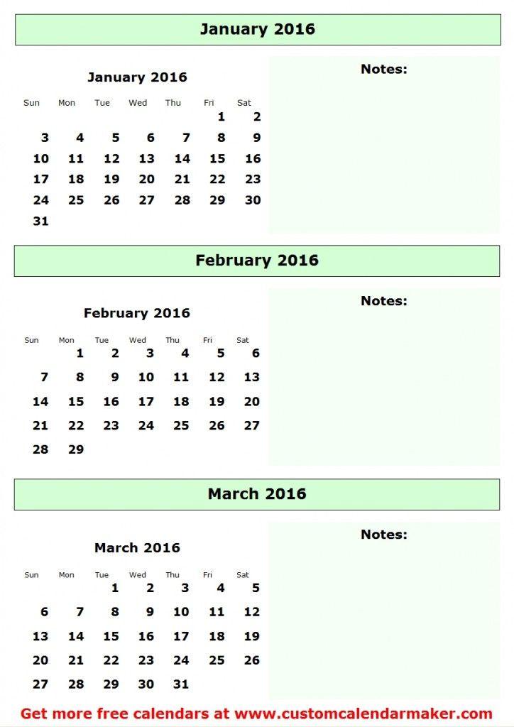 2016 Quarterly Calendar Bullet Journal Love