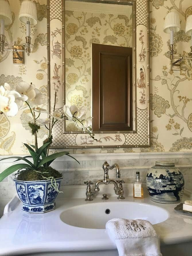 The Enchanted Home Powder Room Design Bathroom Style Vintage
