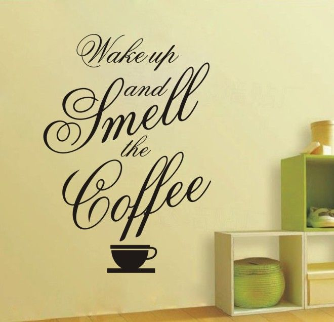 0792 Coffee Quotes Wall Decor Sticker Removable Wall Murals Decal ...