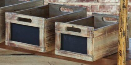 Antique Style Produce Crates with Chalkboard Labels (Large) by Timeless Settings, http://www.amazon.com/dp/B0092YCAAI/ref=cm_sw_r_pi_dp_J6Ndrb1AYPC2M