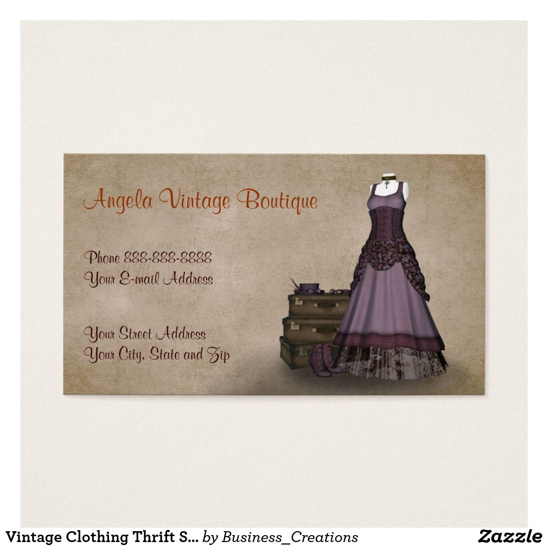 Vintage Clothing Thrift Shop Boutique Business Custom Check out ...