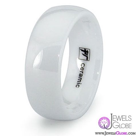 white ceramic wedding bands