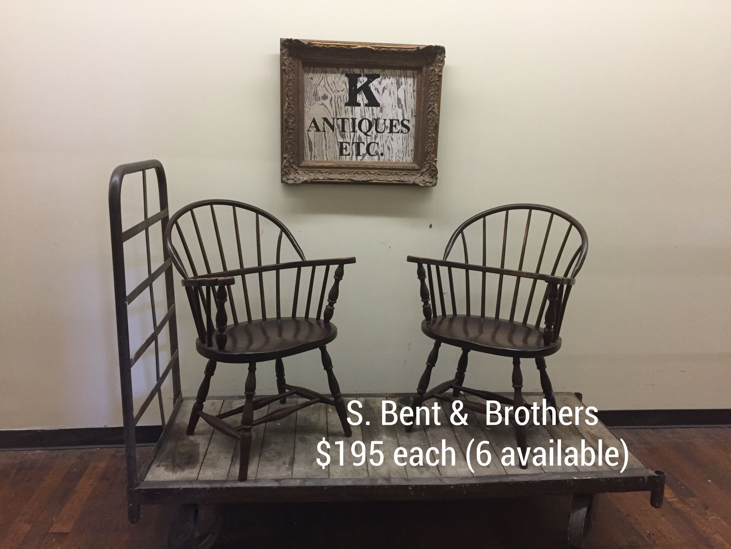 S. Bent & Brothers 18672000 Sack back Windsor chairs 6