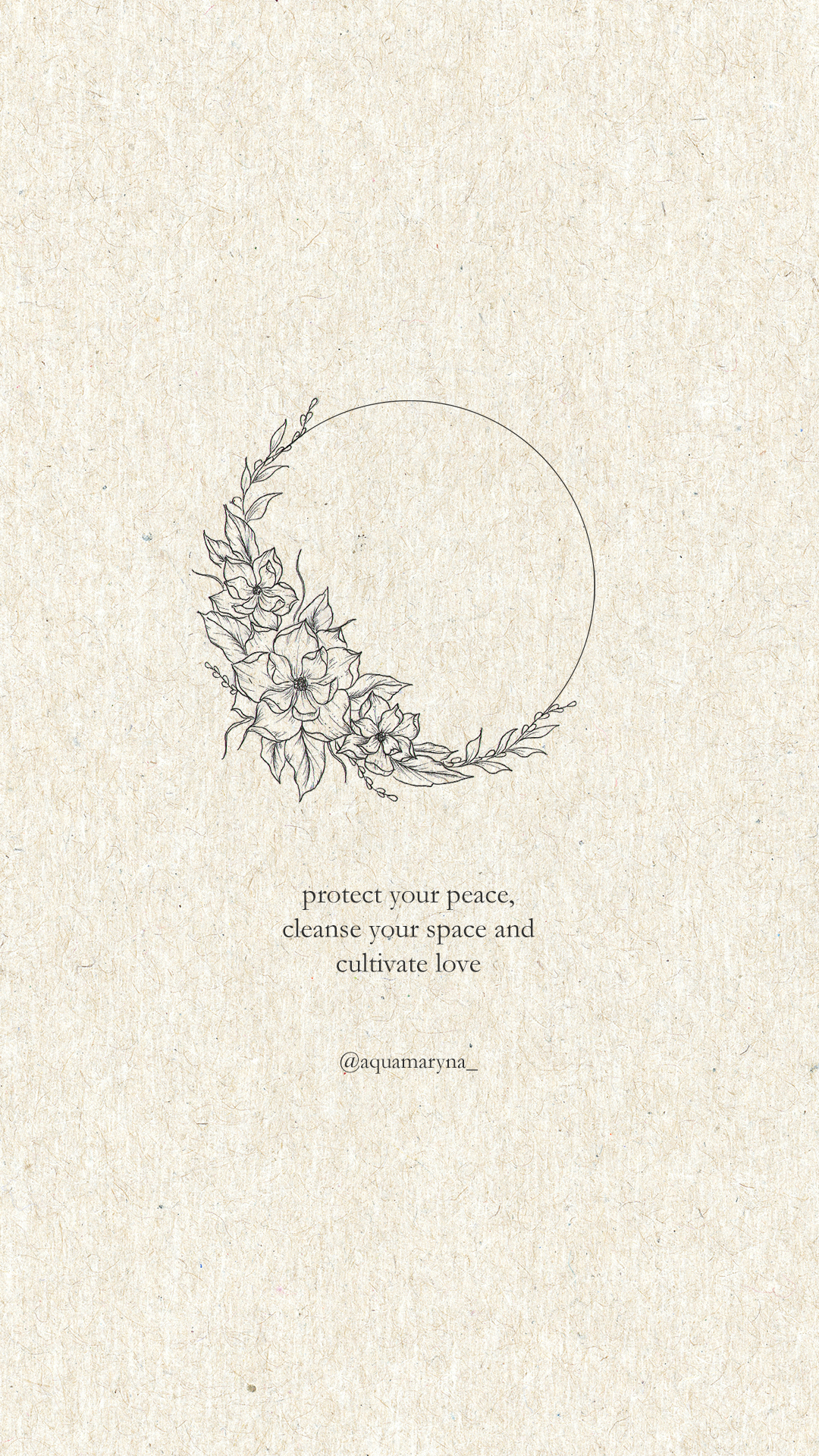 protect your peace quotes / inner balance quotes / inner peace quotes / floral tattoo design / flower circle tattoo design / minimalistic flower tattoo / cleanse your mind quote / energy quotes / self love quote / self growth quotes /