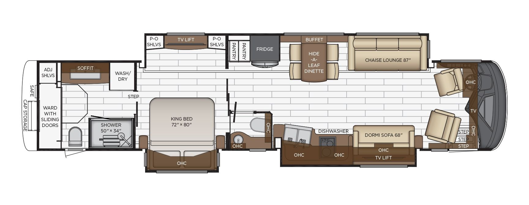 King Aire floor plan options Newmar in 2020 Luxury rv