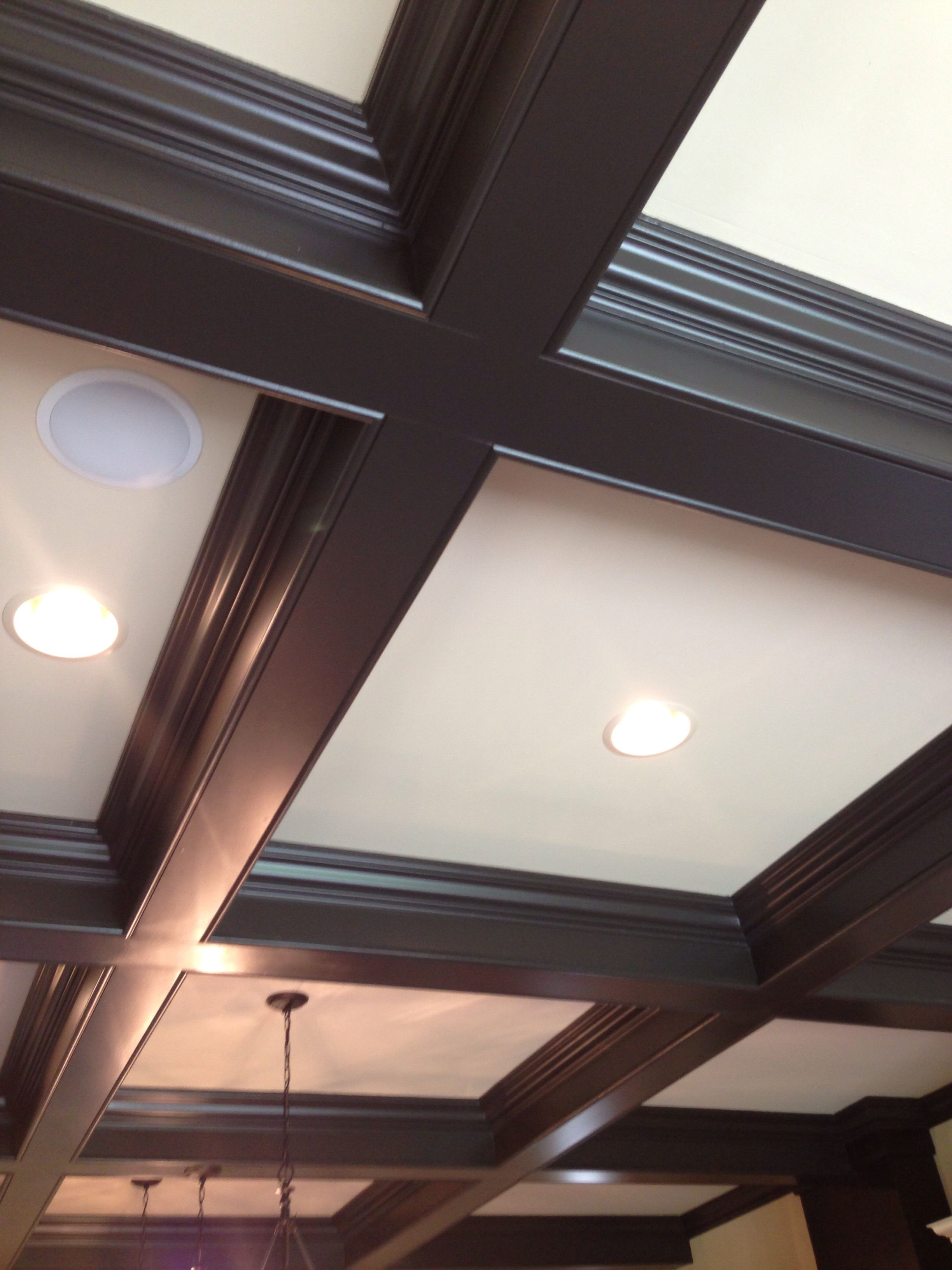 Coffered ceiling | Ceiling design, Ceiling lights ...