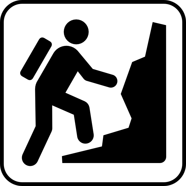 mountain climber silhouette clip art vector clip art online rh pinterest co uk mountain climbing free clipart mountain climber exercise clipart
