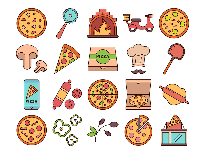 Pizza Free Vector Icons 20 Flat Icons Icons Fribly Free Icon Set Free Icons Vector Free