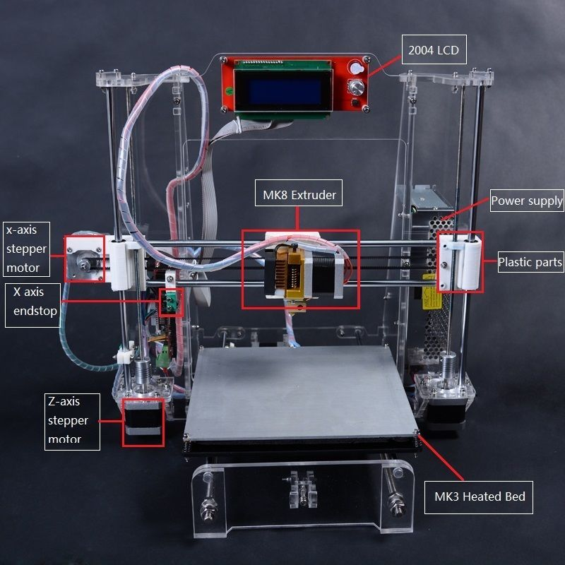 3d Printer Kit Diy He3d Xi3 Huge Build Area Multi Material Support In Computers Tablets Networking Printers 3d Printer Kit 3d Printing Machine 3d Printer