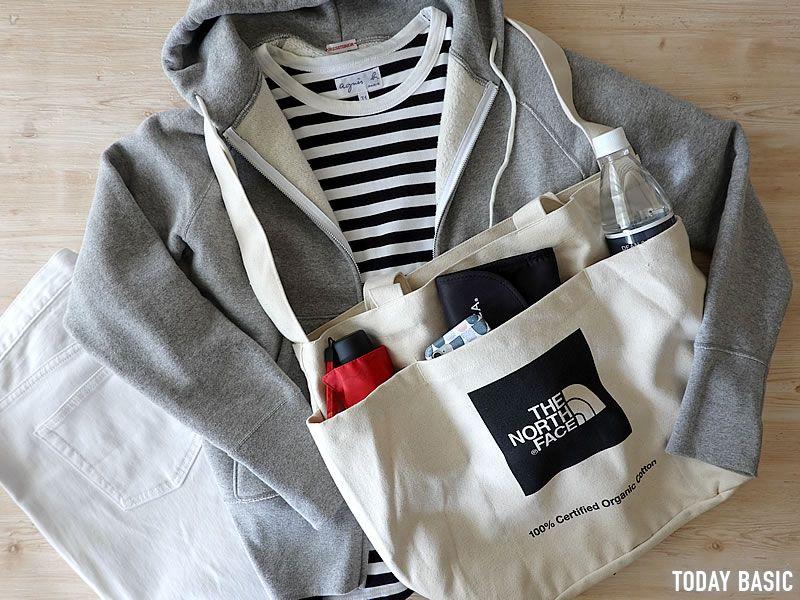 ノースフェイスのユーティリティートートバッグが便利 ポケットの収納例やコーデ ブログレポート メンズファッション ウェア ファッション