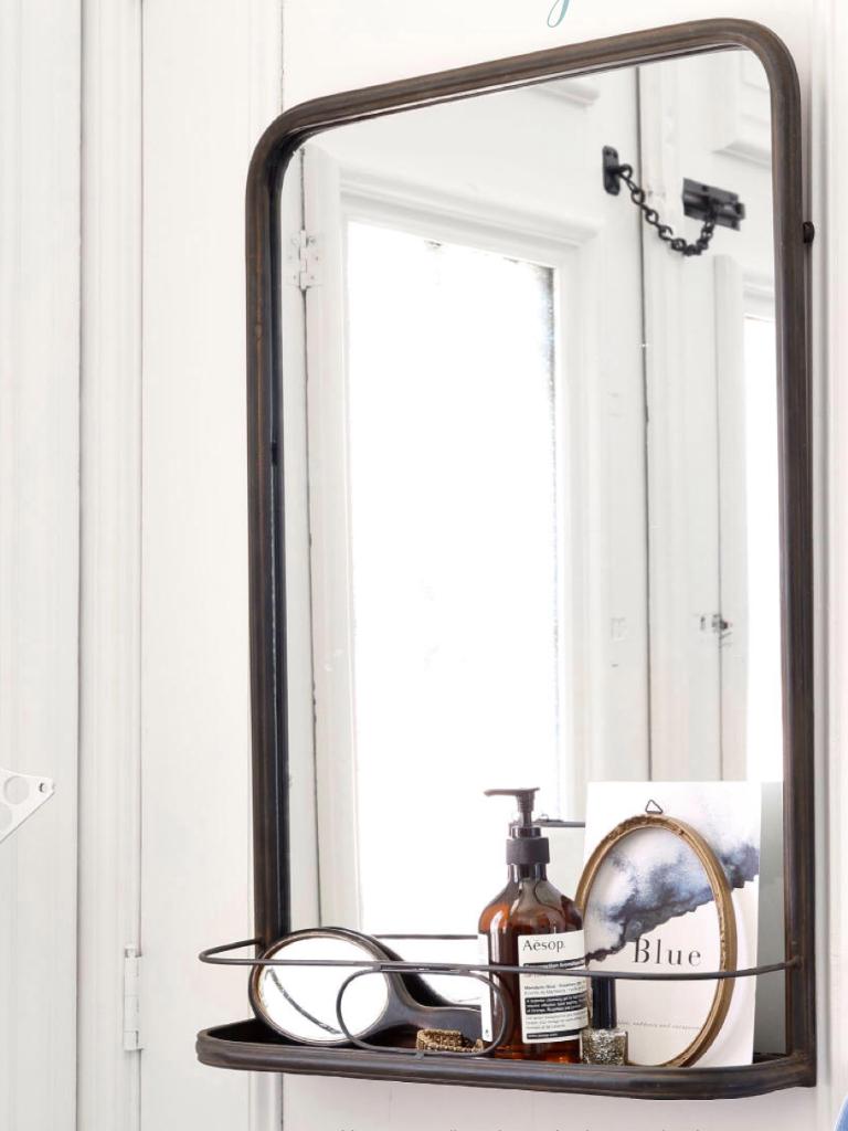 spiegel met planchet home bath pinterest. Black Bedroom Furniture Sets. Home Design Ideas