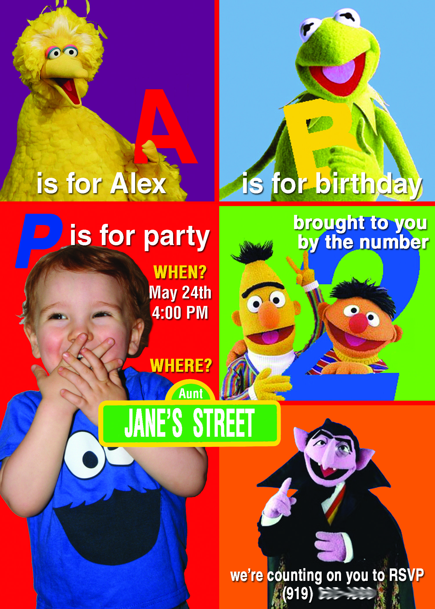 Alexs My Nephew 2nd Birthday Party Invitation