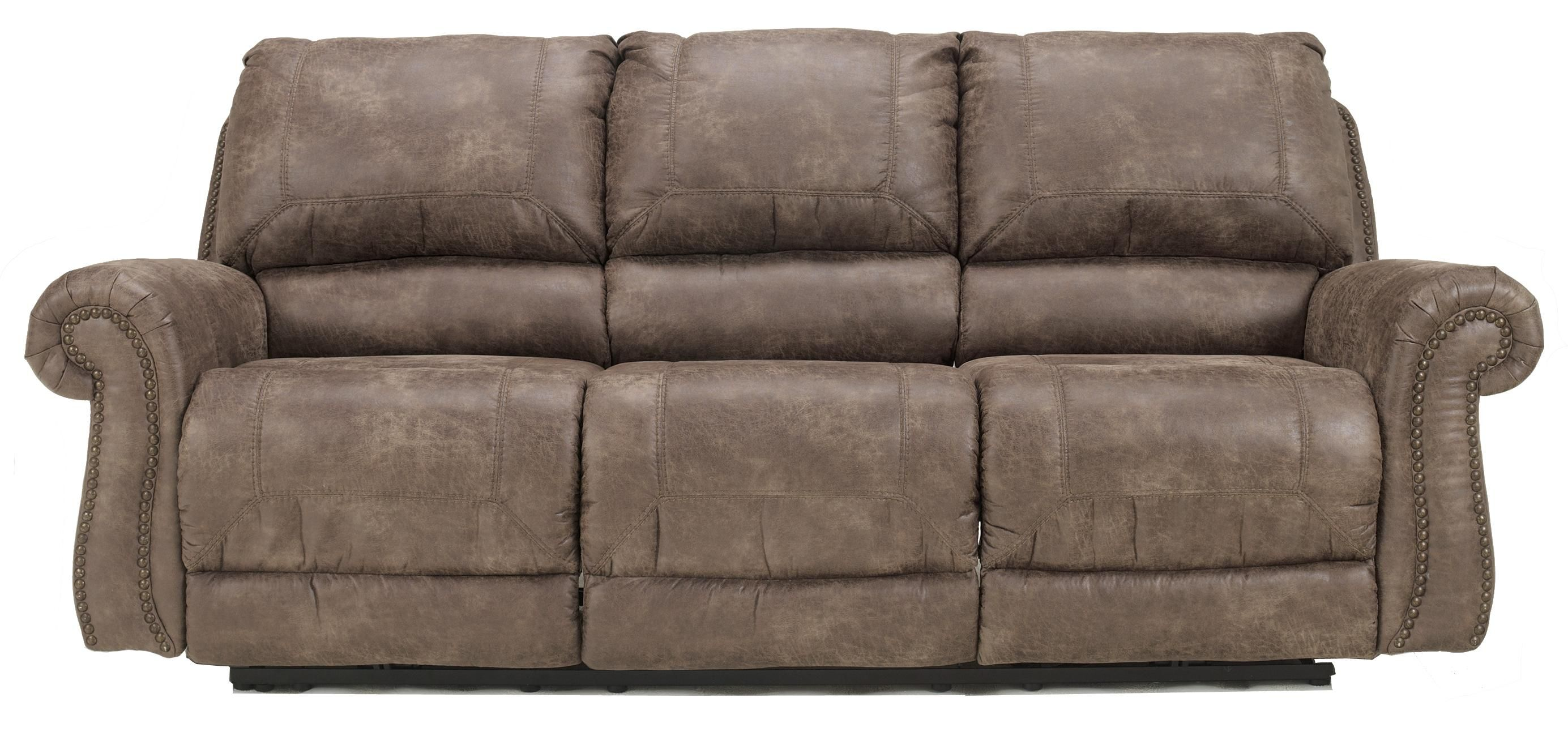 Oberson Gunsmoke Reclining Sofa By Signature Design By