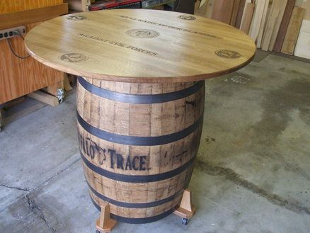 High Quality Whiskey Barrel Table