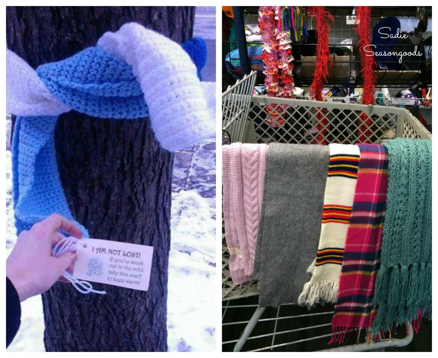 Image result for kindness photos of scarves for the homeless