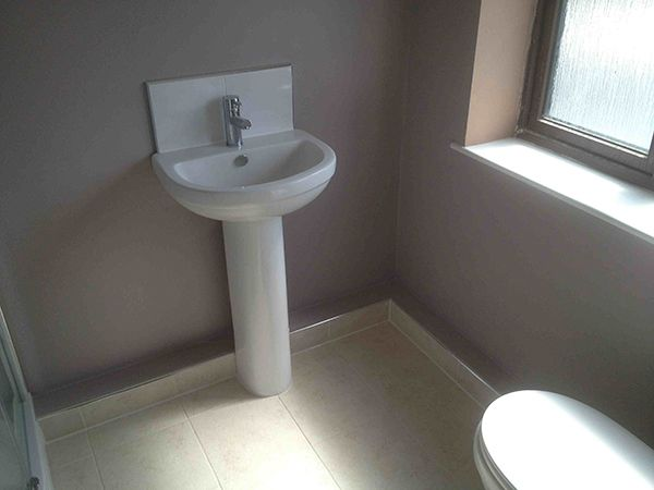 Boxing In To Conceal En Suite Pipework Small Bathroom Makeover Small Bathroom Sinks Hidden Toilet
