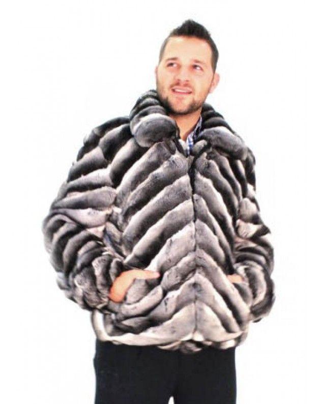 b06d2803 USA Made Men's Chinchilla Fur Jacket in 2019 | Mens Wear ...