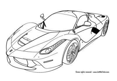 Imagenes De Ferraris Para Dibujar Para Imprimir Dibujos De Autos