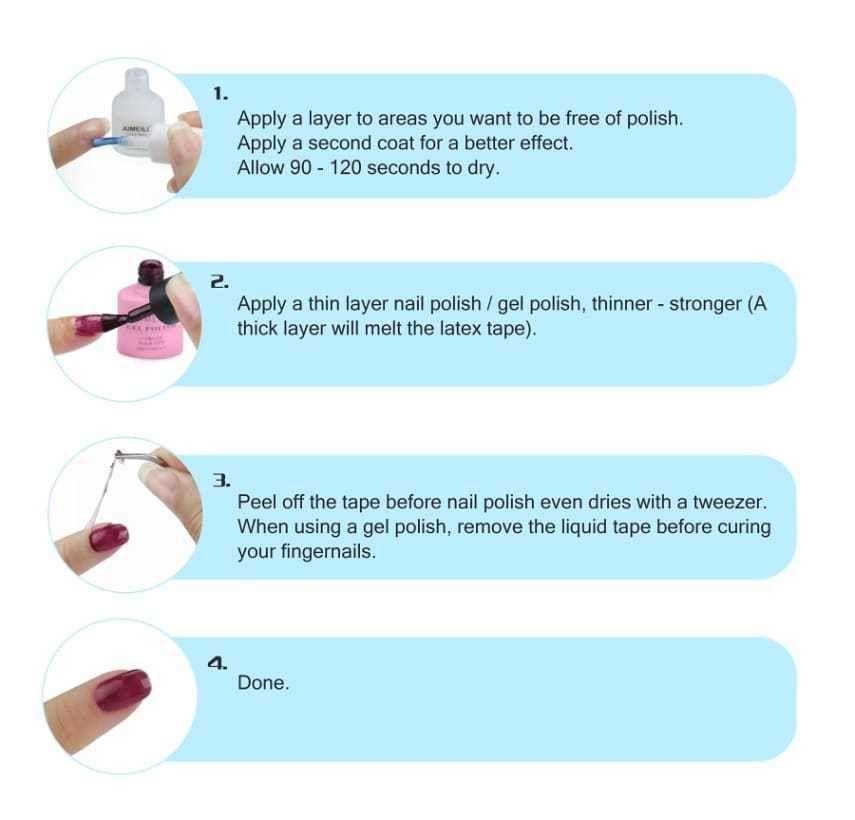 Keep Nail Polish Off Cuticles: AIMEILI Liquid Latex Peel Off Tape Cuticle Guard Polish