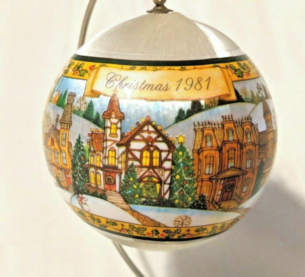 2020 Satin Christmas Year Ornament Hallmark 1981 Spun Satin Christmas Ornament Love In The Home Joy