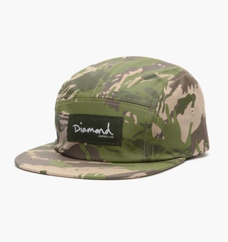 Diamond 5 panel camo green #skateboard camp cap hat free #delivery - resume format australia
