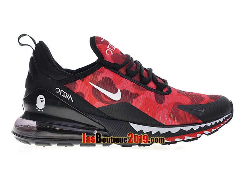 7055f9fd42c A Bathing APE x Nike Air Max 270 Noir Rouge AH6799-016 Chaussure de Running