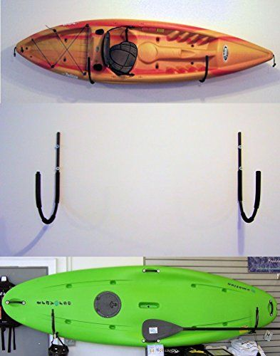 Folding Wall Mounted Kayak Rack By Pack Em Racks Universal Wall Mounted Kayak Racks Are Designed To Store Kayak Storage Rack Kayak Storage Kayak Storage Garage