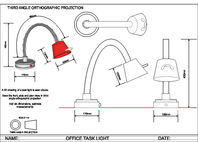 Orthogonal Projections Lamp Cerca Con Google Con Imagenes Tecnicas De Dibujo Disenos De Unas Dibujo Tecnico Ejercicios