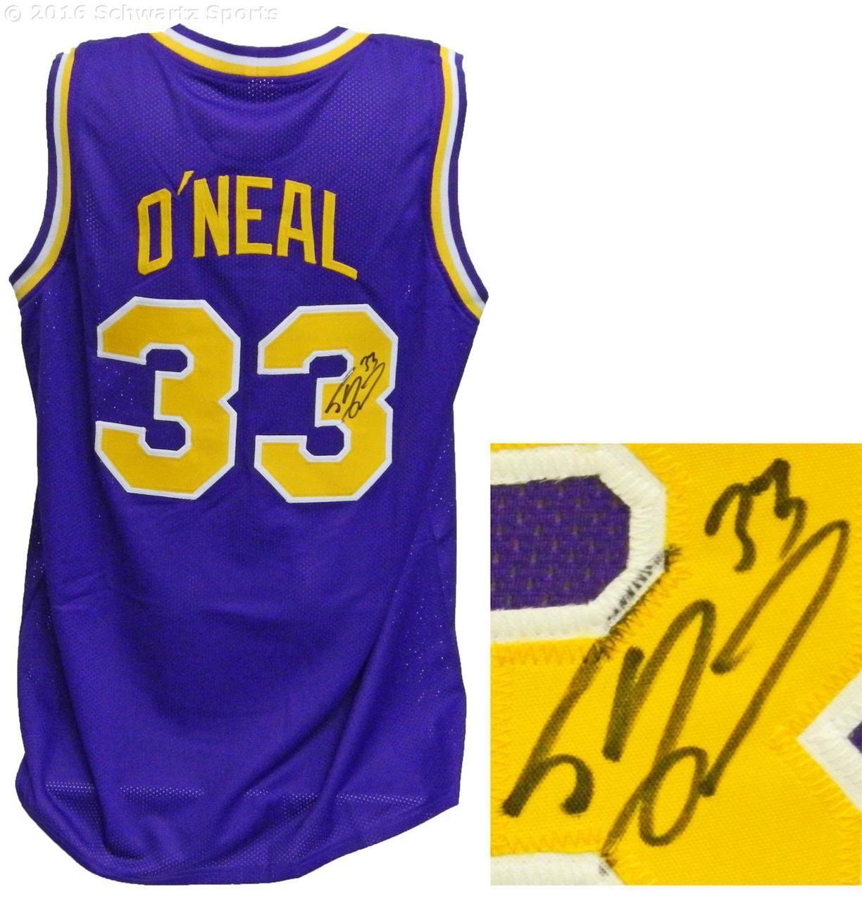 837e1a9ec20 Shaquille O'Neal Signed LSU Tigers Purple Throwback Custom College  Basketball Jersey - Schwartz COA