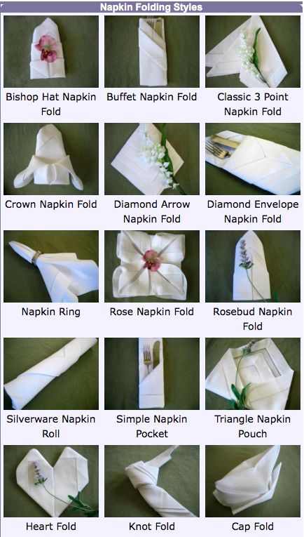 24 napkin folding tutorials at bumblebee linens we are committed 24 napkin folding tutorials at bumblebee linens we are committed to teaching you how to make the most out of your table linens junglespirit Choice Image